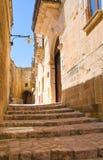 alleyway Sassi van Matera Basilicata Italië royalty-vrije stock afbeeldingen