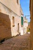 alleyway Sassi van Matera Basilicata Italië stock afbeeldingen