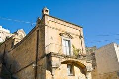 alleyway Sassi van Matera Basilicata Italië Royalty-vrije Stock Afbeelding