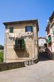 Alleyway. Soriano nel Cimino. Lazio. Italy. Perspective of an alleyway of Soriano nel Cimino. Lazio. Italy Royalty Free Stock Photo