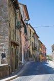 Alleyway. Soriano nel Cimino. Lazio. Italy. Perspective of an alleyway of Soriano nel Cimino.  Lazio. Italy Stock Photography