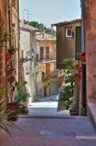 Alleyway. Soriano nel Cimino. Lazio. Italy. Alleyway of Soriano nel Cimino. Lazio. Italy Royalty Free Stock Photo