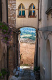 Alleyway. Spello. L'Umbria. Fotografie Stock