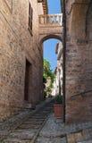 Alleyway. Spello. Umbria. stock photo