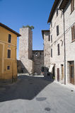 Alleyway. Spello. Umbria. Royalty Free Stock Photography