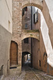 Alleyway. Spello. Umbria. Stock Image