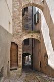 alleyway spello Umbria obraz stock