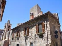 Alleyway. Tarquinia. Il Lazio. L'Italia. Fotografie Stock