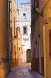 Alleyway. Taurisano. Puglia. Italy. Royalty Free Stock Photo