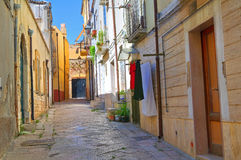 Alleyway. Torremaggiore. Puglia. Italy. Royalty Free Stock Photography
