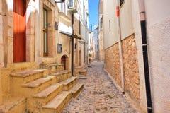 alleyway Turi La Puglia L'Italia Fotografie Stock