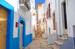 alleyway Turi Puglia Italië stock afbeeldingen