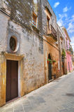 Alleyway. Ugento. Puglia. Italy. stock photo