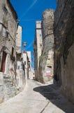 Alleyway. Vico del Gargano. La Puglia. L'Italia. Fotografie Stock