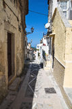 Alleyway. Vico del Gargano. La Puglia. L'Italia. Fotografia Stock