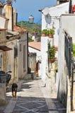 Alleyway. Vico del Gargano. La Puglia. L'Italia. Fotografie Stock Libere da Diritti