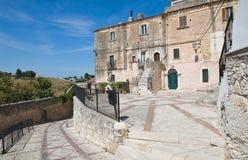Alleyway. Vico del Gargano. Puglia. Italy. Royalty Free Stock Photo