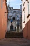 Alleyway. Vico del Gargano. Puglia. Italy. Stock Photo