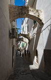 Alleyway. Vieste. La Puglia. L'Italia. Fotografie Stock