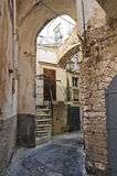 Alleyway. Vieste. La Puglia. L'Italia. Fotografie Stock Libere da Diritti