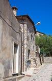 alleyway Viggianello La Basilicata L'Italia Immagine Stock Libera da Diritti