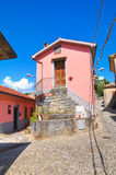 alleyway Viggianello La Basilicata L'Italia Fotografia Stock Libera da Diritti