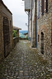 Alleyway. Vigoleno. L'Emilia Romagna. L'Italia. Immagini Stock Libere da Diritti