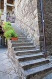 Alleyway. Viterbo. Il Lazio. L'Italia. Fotografia Stock Libera da Diritti