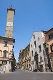Alleyway. Viterbo. Il Lazio. L'Italia. Immagini Stock Libere da Diritti