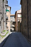 Alleyway. Viterbo. Lazio. Italy. Stock Photography