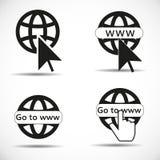 Allez à l'icône de Web Image libre de droits