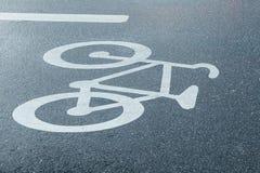 Allez à vélo le panneau routier Photos libres de droits