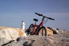 allez à vélo le rouge Image stock