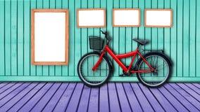 allez à vélo le rouge Photographie stock libre de droits