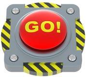 Allez ! bouton rouge. Illustration de Vecteur