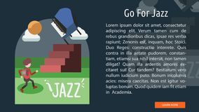 Allez pour Jazz Conceptual Banner Photo stock
