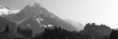 Allgäu的山全景 库存图片