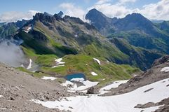 Allgäuer Alpen,德国 免版税库存图片