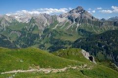 Allgäuer Alpen, Tyskland Arkivbild