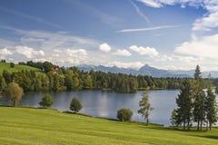 allgaeu的Schwalten池塘 库存照片