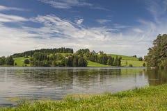 allgaeu的Schwalten池塘 库存图片