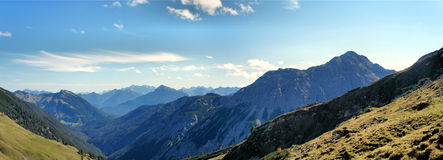 The Allgaeu Alps in Tyrol, Austria Royalty Free Stock Photos