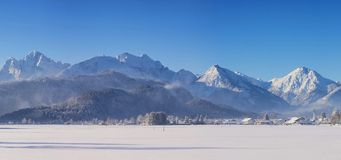 Allgaeu in Winter Stock Image
