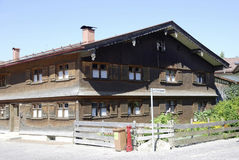 Allgaeu farmhouse in Bavaria Stock Image