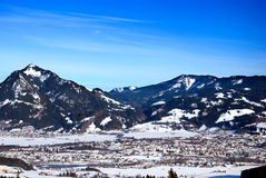 Allgaeu winter Royalty Free Stock Photo