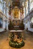 ALLGAU,德国, 2012年12月:Wies (Wies朝圣教会  库存照片