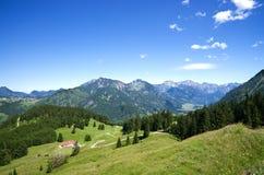 Allgau alpino Germania del prato Fotografia Stock Libera da Diritti