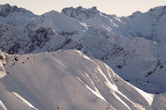 Allgau Alps, Southern Germany. A view of the Allgau Alps near Oberstdorf, southern Germany as seen from Nebelhorn ski resort stock image