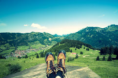Allgau Hiking Stock Image