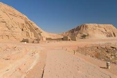 Allgemeine Ansicht am Abu Simbel Tempel Lizenzfreie Stockfotos